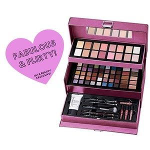 NWT! Fabulous & Flirty Ulta Makeup Train Case Kit